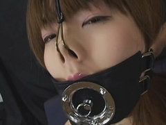 Japanese woman gagged and suck cock